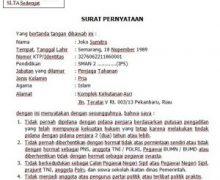 Inilah Contoh Format Surat Pernyataan CPNS